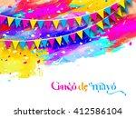 cinco de mayo bunting... | Shutterstock .eps vector #412586104