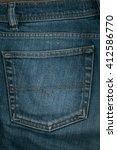 Blue Jeans Back Pocket....