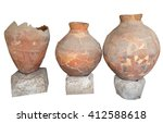 Ancient Greek Amphoras On Whit...