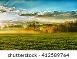 Spring Landscape With Haze...