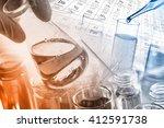 laboratory glassware  test... | Shutterstock . vector #412591738