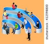 public free wi fi. icon hotspot ... | Shutterstock .eps vector #412598800