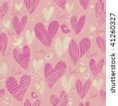 stylish cartoon love pattern in ...   Shutterstock .eps vector #41260327