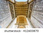 arc de triomphe paris | Shutterstock . vector #412603870
