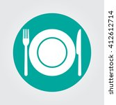 dish fork and knife icon vector ... | Shutterstock .eps vector #412612714