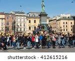 cracow  poland   april 2  2016  ... | Shutterstock . vector #412615216