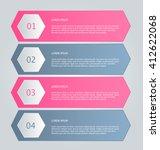business infographics tabs... | Shutterstock .eps vector #412622068