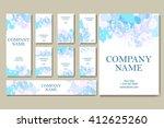 set of  business cards. vintage ... | Shutterstock .eps vector #412625260