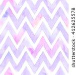 Watercolor Chevron Of Purple...