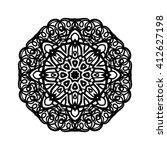 mandala. ethnic decorative... | Shutterstock .eps vector #412627198