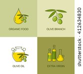 organic olive thin line color... | Shutterstock .eps vector #412634830