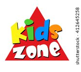 kids zone banner   vector | Shutterstock .eps vector #412645258