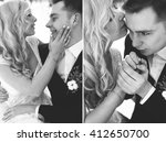 groom and bride winter love... | Shutterstock . vector #412650700