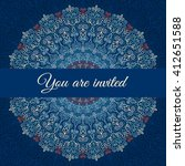 blue vector invitation with... | Shutterstock .eps vector #412651588