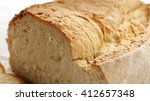 sliced crispy crust bread | Shutterstock . vector #412657348