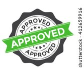 approved stamp vector over a... | Shutterstock .eps vector #412659916