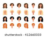 set of girls avatars profile... | Shutterstock .eps vector #412660333
