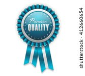 silver premium quality badge ... | Shutterstock .eps vector #412660654