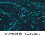 abstract polygonal space low... | Shutterstock . vector #412662073