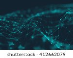 abstract polygonal space low... | Shutterstock . vector #412662079