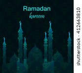 ramadan greetings card. vector... | Shutterstock .eps vector #412663810