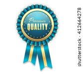 gold premium quality rosette... | Shutterstock .eps vector #412664278