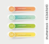 vector steps  progress banners... | Shutterstock .eps vector #412665640