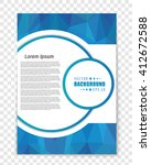abstract vector layout... | Shutterstock .eps vector #412672588