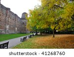 colchester castle in the fall | Shutterstock . vector #41268760