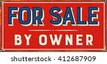 vintage metal sign   for sale... | Shutterstock .eps vector #412687909