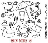 beach set  a collection of...   Shutterstock .eps vector #412692220