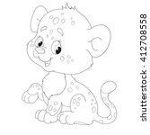 character leopard. page... | Shutterstock .eps vector #412708558