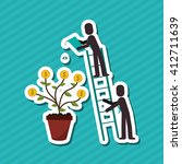 icon of business people  vector ... | Shutterstock .eps vector #412711639