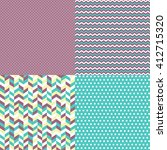 Set Of 4 Seamless Pattern...