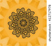 yoga print.ornament ... | Shutterstock .eps vector #412717978