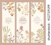 vector hand drawn cosmetics... | Shutterstock .eps vector #412719199