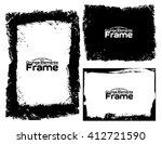 grunge frame texture set  ...   Shutterstock .eps vector #412721590