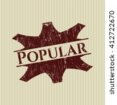 popular grunge seal | Shutterstock .eps vector #412722670