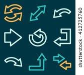 arrows icons  next step vector... | Shutterstock .eps vector #412725760