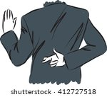 businessman swearing and... | Shutterstock .eps vector #412727518
