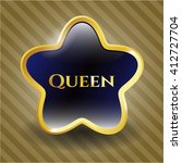 Queen Gold Shiny Emblem