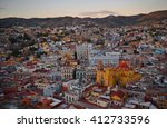 the skyline of guanajuato after ... | Shutterstock . vector #412733596