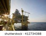 offshore construction platform... | Shutterstock . vector #412734388