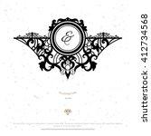 vintage frame design with... | Shutterstock .eps vector #412734568