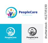 people care logo.people logo... | Shutterstock .eps vector #412735150