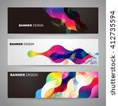 set of flyer  brochure design...   Shutterstock .eps vector #412735594