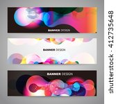 set of flyer  brochure design... | Shutterstock .eps vector #412735648