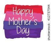 happy mother's day greeting... | Shutterstock .eps vector #412737544