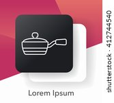 pot line icon | Shutterstock .eps vector #412744540