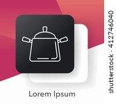 pot line icon | Shutterstock .eps vector #412746040